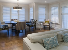 Family Dining with custom seating and table
