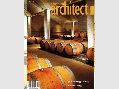Canadian Architect 2001 Jackson Triggs Winery with KPMB Architects