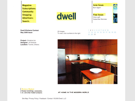 Dwell Magazine Online June 2005 Kitchen Design