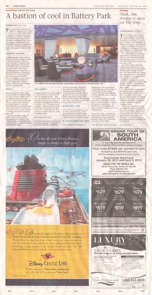 Globe and Mail Travel January 26 2013