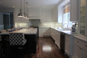 from a fully gutted house to a gorgeous entertaining kitchen with room for family and friends